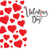 Valentine`s day poster design Stock Images