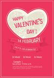 Valentine's day poster Royalty Free Stock Photography