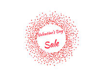 Valentine`s Day poster Stock Photography