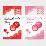 Valentine`s Day poster Sale, Shop now stock image