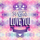 Valentine`s day Poster. Stock Photography