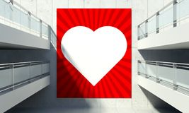 Valentine's Day poster on wall in store interior Stock Photo
