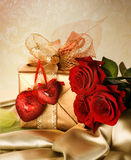 Valentines Day Present. Beautiful Valentines Day Gift.With copy-space Royalty Free Stock Images