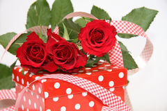 Valentine's Day Present. Beautiful Valentine's Day Gift Box Stock Images