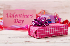 Valentine`s Day present box. Royalty Free Stock Photo