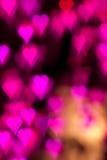 Valentine's Day purple heart Stock Photography