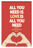 Valentines Day Quote Poster. Abstract Background Stock Photography