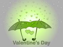 Valentine`s Day. A rain of heart. Royalty Free Stock Photo