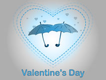 Valentine`s Day. A rain of heart. Stock Images
