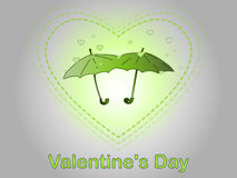 Valentine`s Day. A rain of heart. Royalty Free Stock Photo