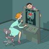 Valentine's Day X-ray observe Stock Image