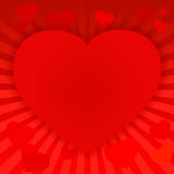 Valentine's Day red background-09 Stock Image