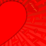 Valentine's Day red background-11. St. Valentine 's Day red background with heart and place for text Stock Photography