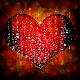 Valentine's day red background Stock Images