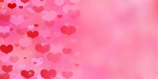 Valentine`s Day red background with hearts. royalty free stock images