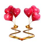 Valentine`s Day red ballons Royalty Free Stock Photo