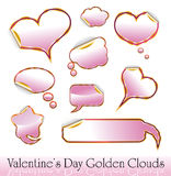 Valentine's Day Red and Gold Hearts Royalty Free Stock Images