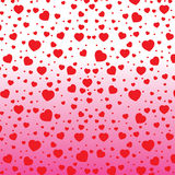 Valentine's Day and red Heart on colorful background. Vector Valentine's Day on white and pink Background. Stock Photo