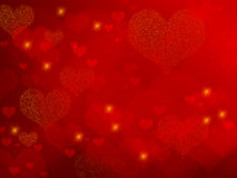 Valentine's Day - red hearts Stock Photography
