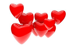Valentine's Day Red Hearts Stock Image