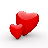Valentine's Day Red Hearts Stock Photography