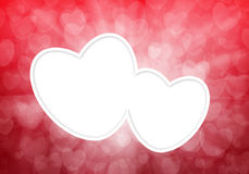 Valentine's day red hearts background Royalty Free Stock Photos