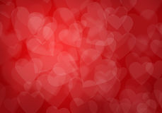 Valentine's day red hearts background Royalty Free Stock Image