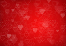 Valentine's day red hearts background Stock Photos