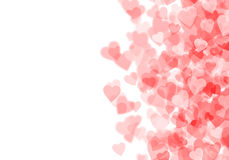 Valentine's day red hearts background Royalty Free Stock Photography