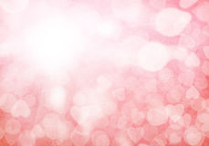 Valentine's day red hearts background Stock Photo
