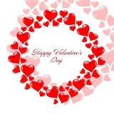Valentine s day red hearts Stock Photography