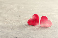 Valentine`s day red hearts Royalty Free Stock Photo