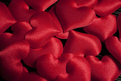 Valentine`s day - red hearts Royalty Free Stock Photography