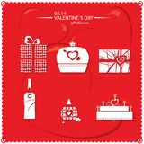 Valentine`s day red icon Royalty Free Stock Photos