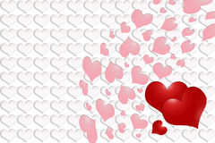 Valentine´s Day - red and pink hearts Royalty Free Stock Photography