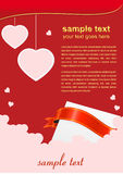 Valentine's day red poster. Illustration for st valentine's day Royalty Free Stock Photo