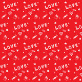 Valentine's day red seamless background Royalty Free Stock Photos