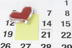 Valentine's Day reminder Stock Image