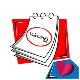 Valentine`s day with reminder paper stock vector. EPS file available. see more images related royalty free illustration