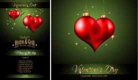 Valentine`s Day Restaurant Menu Template Background Stock Photography