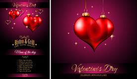 Valentine`s Day Restaurant Menu Template Background Royalty Free Stock Image