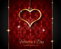 Valentine`s Day Restaurant Menu Template Background Stock Image