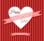 Valentine's day retro card. Valentine's day retro greeting card Stock Photography
