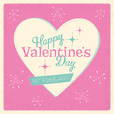 Valentine's Day Retro Design Stock Image