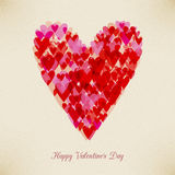 Valentine's Day retro hearth card. Valentine's Day retro hearth  card design. layered Stock Photography