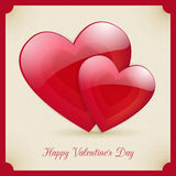 Valentine's Day retro poster card design. Valentine's Day retro poster  card design Royalty Free Stock Photography