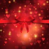 Valentine`s day ribbon background Royalty Free Stock Photo
