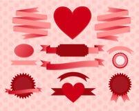 Valentine's day ribbons Royalty Free Stock Photo