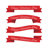 Valentines day ribbons Stock Photography