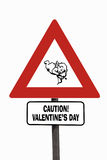 Valentine's Day roadsign Royalty Free Stock Photo